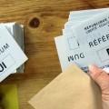 Bulletins de vote lors d'un référundum