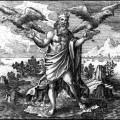 Jupiter lâchant ses aigles dans le monde, de Atalanta fugiens (1618)