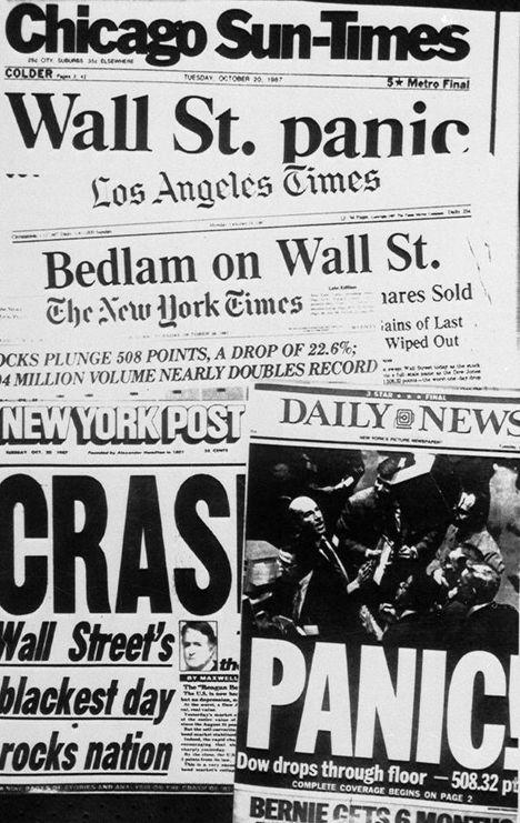 Journaux américains au lendemain du Jeudi noir