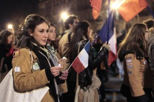 Etudiante juive manifestant