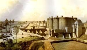 Reconstitution de La Bastille médiévale par Theodor Josef Hubert Hoffbauer.