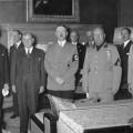 Chamberlain, Daladier, Hitler et Mussolini le 29 septembre 1938