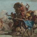 Construction du cheval de Troie par Tiepolo