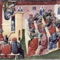 Cours à l'Université vers 1350 par Laurentius De Voltolina
