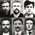 Des membres de la bande à Bonnot après leur arrestation.