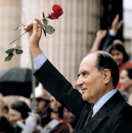 Francois Mitterand lors de l'election de 1981