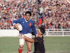 France - Nouvelle-Zelande, finale de 1ere coupe du monde de rugby en 1987.