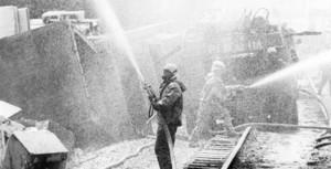 Les pompiers après la catastrophe de Tchernobyl