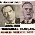 Affiches du 2e tour de l'élection de 1965