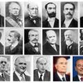 Les présidents de la république française de Napoléon III à Sarkozy
