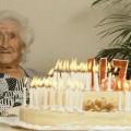Jean Calment célébrant ses 117 ans