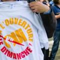 Manifestation pour l'ouverture des magasins le dimanche en France