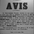 Avis de la Préfecture de la Loire-Inférieure en 1941