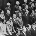 Les accusés écoutant le verdict du procès de Nuremberg