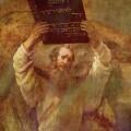 Moïse brisant les Tables de la Loi par Rembrandt.