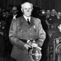 Philippe Pétain lors de son procès en 1945. © Epa