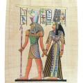 Papyrus avec Horus et Nefertari