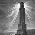 Le phare d'Alexandrie, selon gravure du XIXe siècle