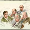 Bob Haldeman, John Mardian, Kenneth Parkinson, John Ehrlichman, John Mitchell