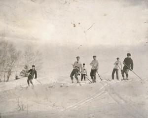 Ski à Rockcliffe Park en 1887