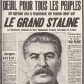 Une du journal l'Humanité au lendemain de la mort de Staline