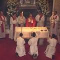 Messe au séminaire d'Asidonia-Jerez en 2005 - élévation du calice après la consécration