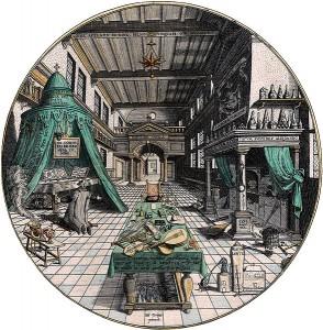 Laboratoire de l'alchimiste par Hans Vredeman de Vries