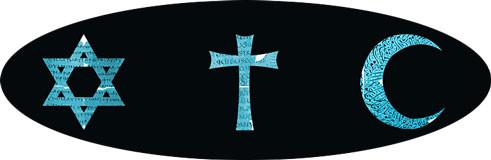 Symbole des trois principales religions monothéistes