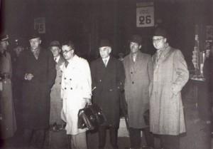 Gerhard Heller, Pierre Drieu La Rochelle, Georg Rabuse , Robert Brasillach, Abel Bonnard, André Fraigneau et Karl Heinz Bremer.
