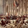 Le 26 février, Lamartine refuse le drapeau rouge devant l'Hôtel de Ville.
