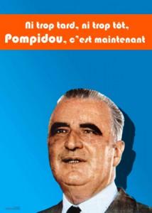 Affiche de campagne de Pompidou