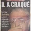 Une du Parisien le lendemain de la mort de Berégovoy le 03-05-1993