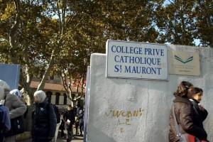 Entrée d'une école privée