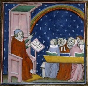 Ecole au Moyen-Age
