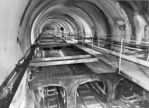 Travaux dans le tunnel du Mont Blanc