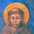 François d'Assise sur une fresque de Cimabue dans la basilique d'Assise
