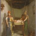Scène Dans le quartier juif de Constantine par Théodore Chassériau