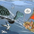 le monstre du Loch Ness dans Asterix chez les Pictes - Uderzo/Ferri/Conrad