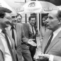 Photo de Mitterrand avec Hollande