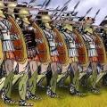 Dessin de l'armée spartiate
