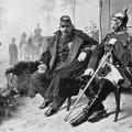 Napoléon III et Bismarck, le 2 septembre 1870 à Donchery, entrevue après la bataille de Sedan d'après Wilhelm Camphausen.