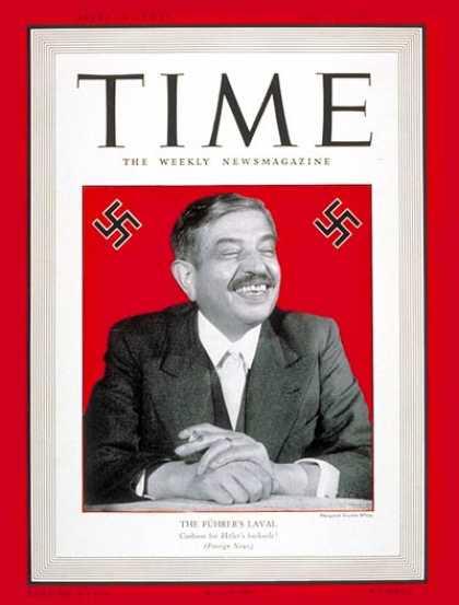 Pierre Laval, homme de l'année 1932 selon Time