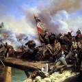 Le passage du Pont d'Arcole par Napoléon et l'armée Francaise