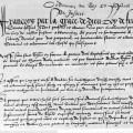 L'une des pages de l'ordonnance de Villers-Cotterêts