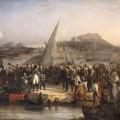 Napoléon Ier quittant l'île d'Elbe le 26 février 1815 par Joseph BEAUME