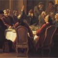 Un dîner de philosophes par Jean Huber