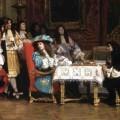Louis XIV en plein repas