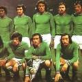 L'équipe de Saint-Etienne pour la finale de la Coupe d'Europe 1976