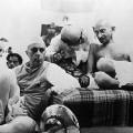 Nehru et le Mahatma Gandhi