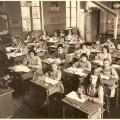 Ecole de filles en 1960